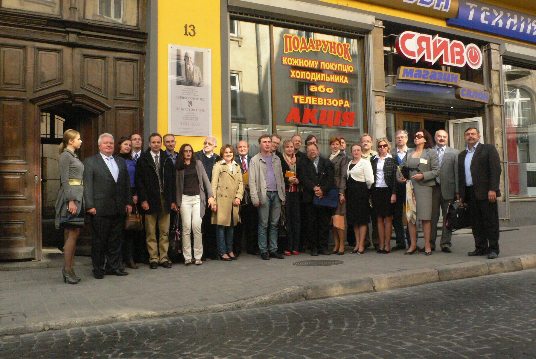 Ludwig Von Mises Plaque Lviv Ukraine