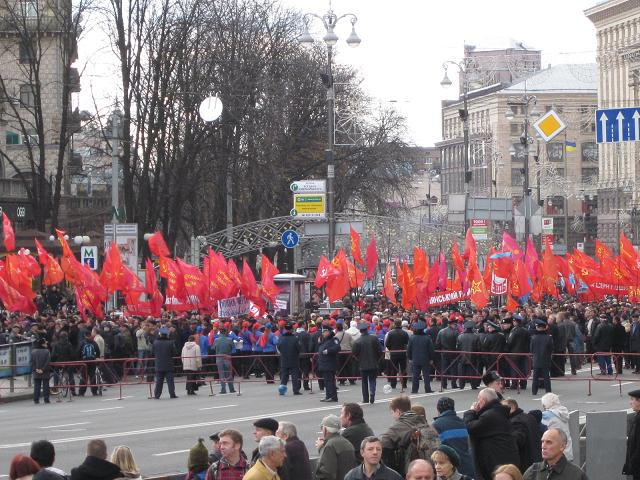 Communist party rally, Kyiv Ukraine, Nov 2010