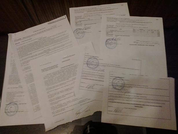 documents left after water deliver