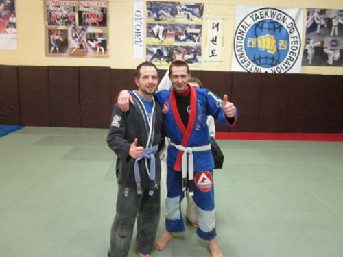 Me and coach.  Kyiv Gracie Barra BJJ