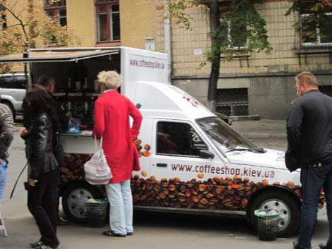 Coffee Truck in Kyiv, Ukraine