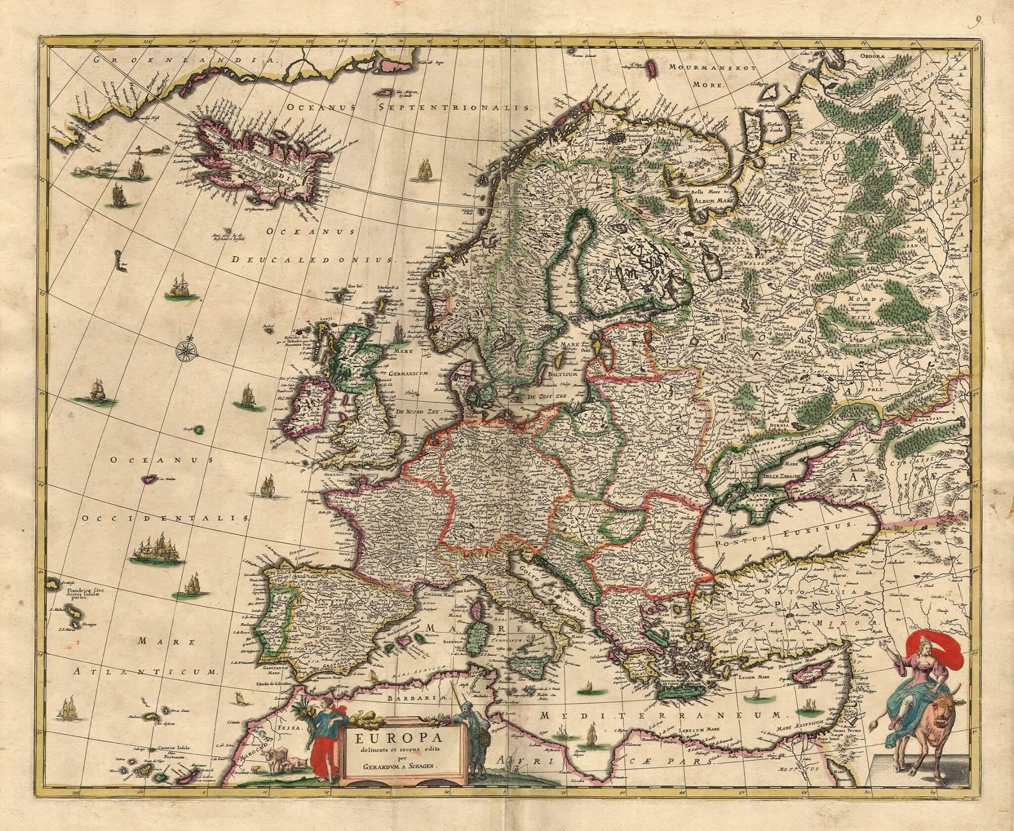 Stare geografske mape i karte - Page 7 1686-map-of-Europe