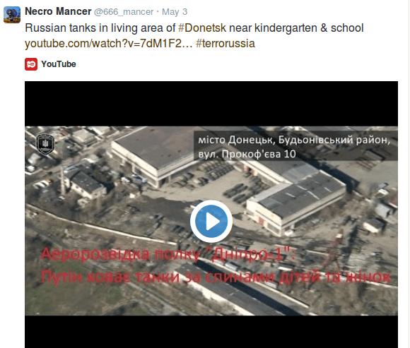 Russian-tanks-near-kindergarden_Donetsk