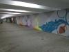 Newly painted walkway.
